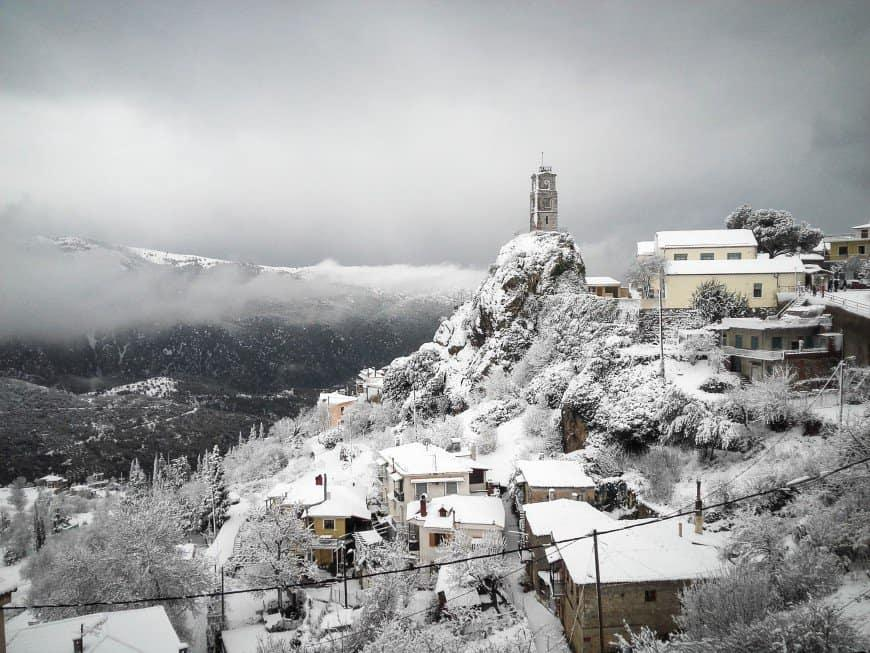 Greece during winter