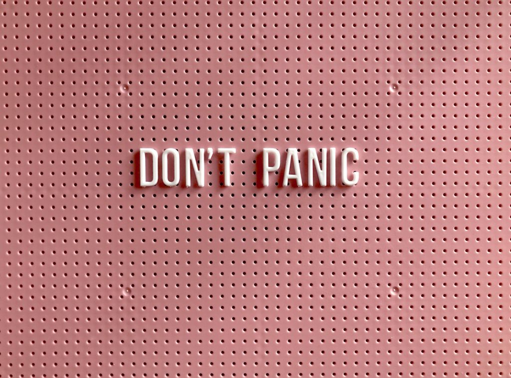 don't panic letters