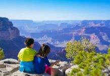 traveling with kids on canyon